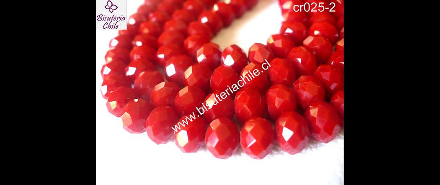 Cristal rojo   8 mm de ancho por x 6 mm 70 unidades