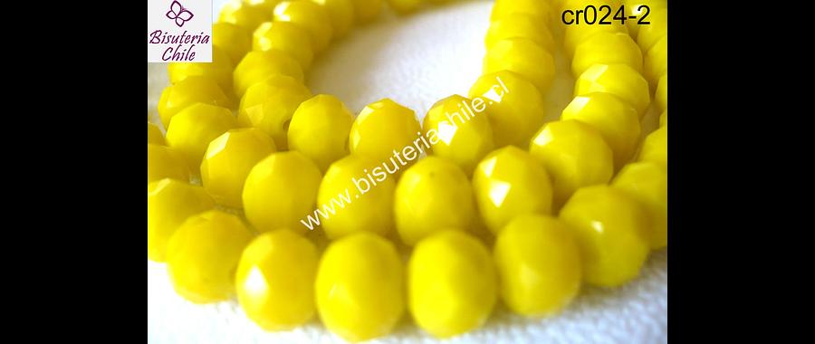 Cristal  amarillo   8 mm de ancho por x 6 mm tira de 70 unidades