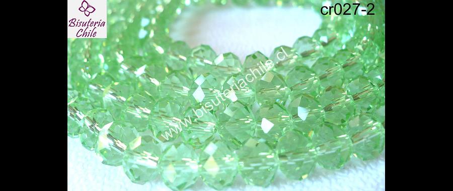 cristal verde claro   8 mm de ancho por x 6 mm tira 70 de unidades