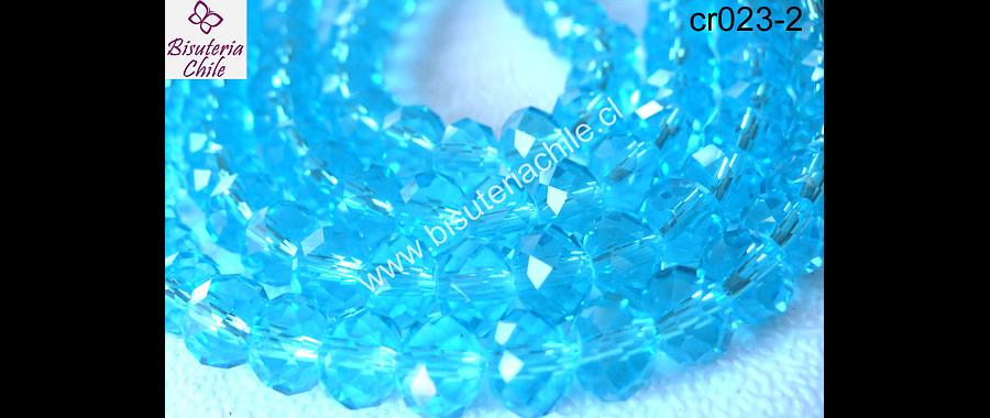 Cristal calipso  8 mm de ancho por x 6 mm 70 unidades