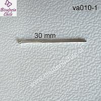 Vastago plateado punta tipo clavo  30 mm de largo (20 GRS)