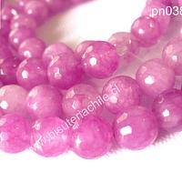 Jade rosado facetado piedra de 10 mm tira de 38 piedras