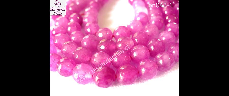 Jade rosado fuente facetado piedra de 8 mm tira de 48 piedras