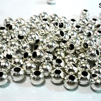 Separador plateado redondo 3 mm de diámetro set de 18 gramos, 300 unidades aprox.