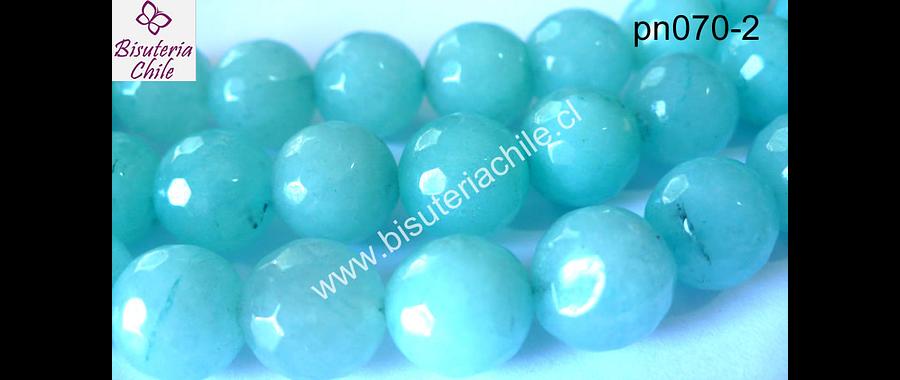Agata en color jade de 10 mm tira de 37 a 38 piedras