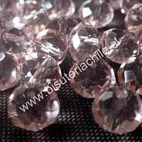 Cristal rosado 10 mm X 8 mm set de 20 cristales