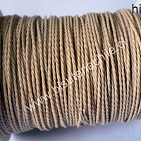 Hilo encerado 70 mts. Color beige o crudo