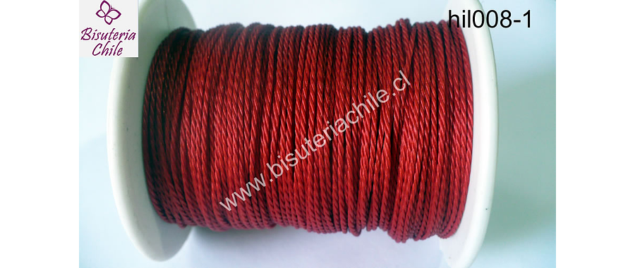 Hilo encerado 70 mts. Color rojo