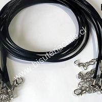 collar de simil cuero negro, set de 10 unidades