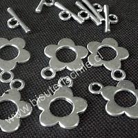 broche timón plateado 15 mm set de 5 unidades