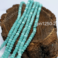 Agata rondell color jade de 4 mm, tira de 130 piedras aprox