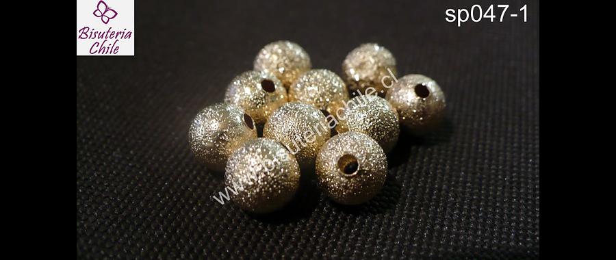 Separador bola brillante dorado 8 mm set de 10 unidades