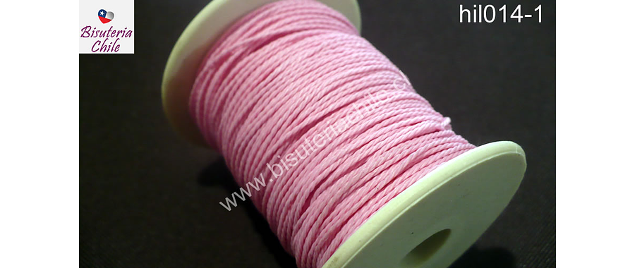 Hilo encerado 70 mts. Color rosado