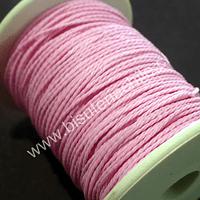 Hilos, hilo encerado 70 mts. Color rosado