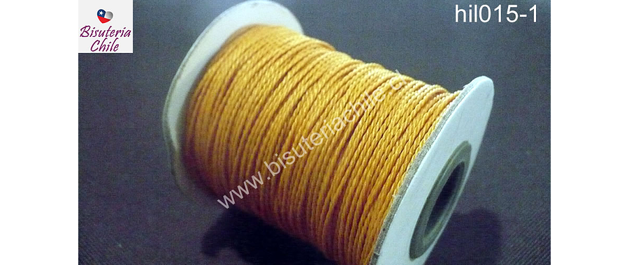 Hilo encerado 70 mts. Color ocre