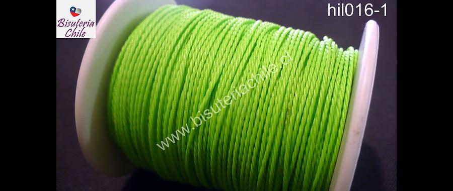 Hilos, Hilo encerado 70 mts. Color verde claro