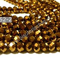 Cristal dorado de 6 mm, tira de 98 unidades