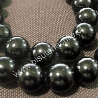 Onix negro de 10 mm tira de 38 piedras aprox.