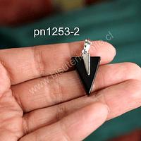 Dije de onix en forma de punta de flecha, 25 mm de largo x 16 mm de ancho, por unidad
