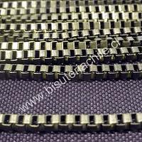 Cadenas, cadena envejecida cuadrada 3 mm por 3 mm