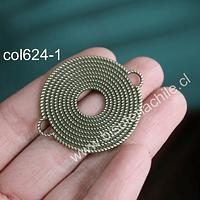 Colgante doble conexión envejecido, 36 mm, de diámetro, por unidad
