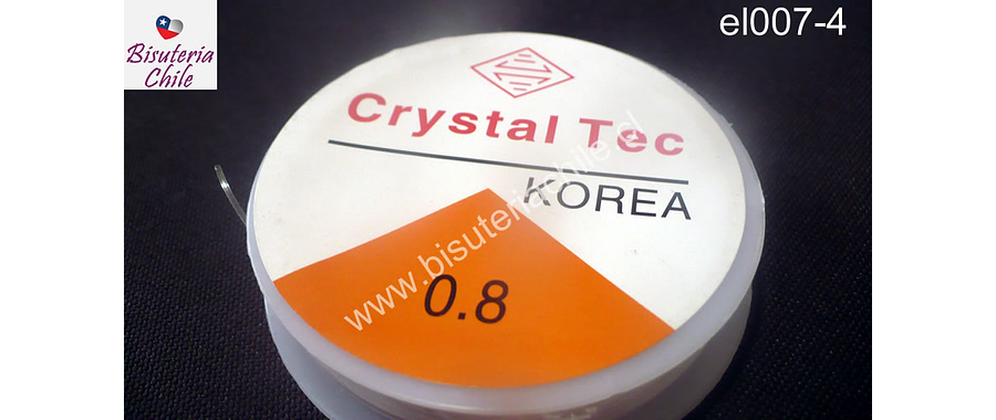 Elástico silicona 0.8 rollo de 50 mts aprox