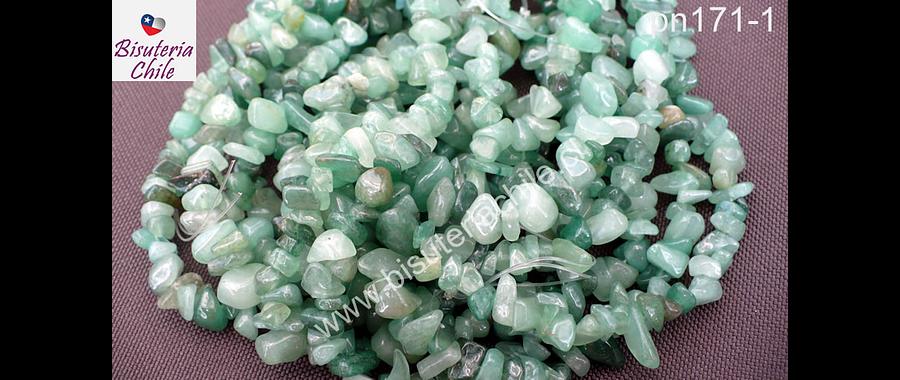 Jade piedra chip, piedra pequeña, tira de 80 cm aprox