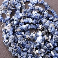 Lapislazuli piedra chip, piedra pequeña, tira de 80 cm aprox