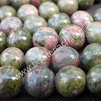 Unakita de 10 mm, tira de 38 piedras aprox