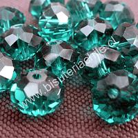 Cristal 10 x 8 mm, tonos verde, set de 20 unidades