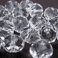Cristal 10 x 8 mm, blanco transparente, set de 20 unidades
