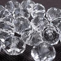 Cristal 10 x 8 mm, blanco transparente, set de 20 unidades