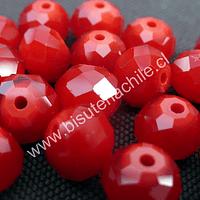 Cristal 10 x 8 mm, rojo , set de 20 unidades