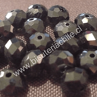 Cristal 10 x 8 mm, negro , set de 20 unidades
