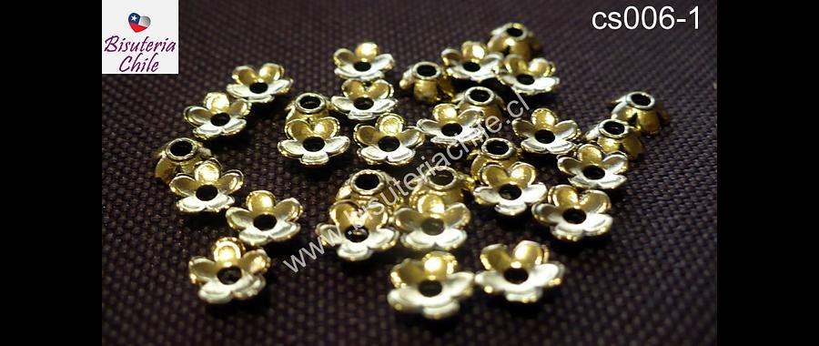 Casquete dorado 6 mm de diámetro set de 30 unidades
