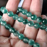 Jade facetado de 8 mm, tira de 46 piedras aprox