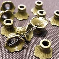 Casquete envejecido 8 mm de largo por 10 mm de diámetro set de 10 unidades