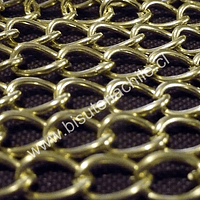 Cadena dorada, eslabon de 11 por 8 mm, por metro