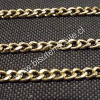 Cadena dorada, eslabon de 5 por 4 mm, por metro