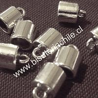 Terminal plateado, 7 mm de largo por 8 mm de ancho y agujero de 6 mm de ancho, set de 8 unidades