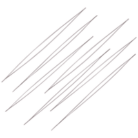 Aguja flexible de ojo grande, especial para hilar, 10 mm de largo,  por unidad