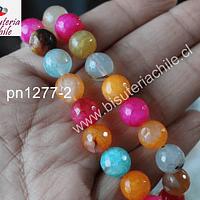 Agata multicolor de 10 mm, tira de 38 piedras aprox