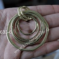 Colgante dorado, 55mm de diámetro, por unidad