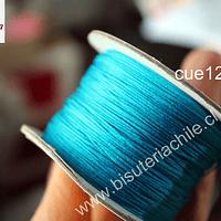 Hilo chino color calipso, 0,5 mm de ancho, rollo de 150 metros