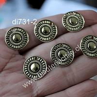 Dije dorado, 11 mm de diámetro, set de 6 unidades