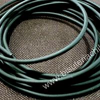 Caucho hueco color negro, de 2 mm de espesor, por metro