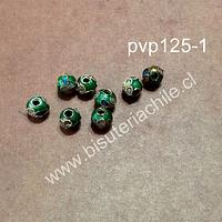 Perla española verde de 6 mm, set de 8 unidades