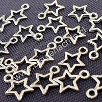 Dije en forma de estrella dorada de 10 mm de diámetro, set de 15 unidades