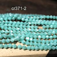 Cristal tupi 4 mm, color jade transparente, tira de 115 cristales aprox