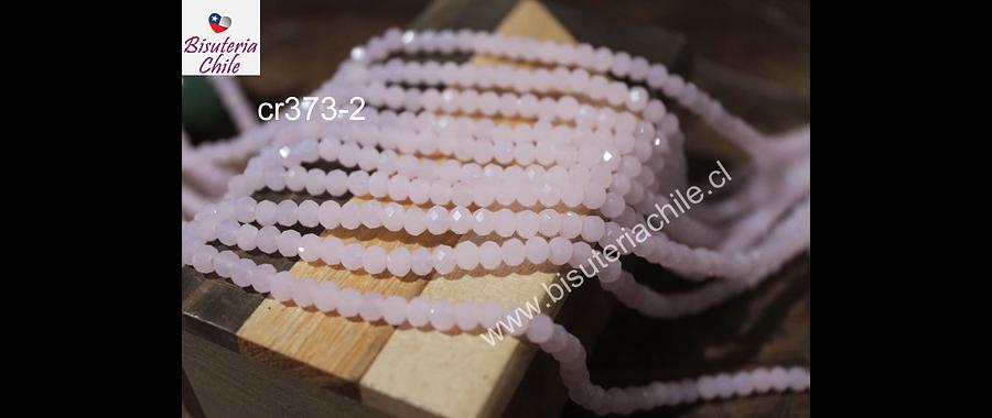 cristal rosado 4 mm x 2 mm, tira de 145 cristales aprox